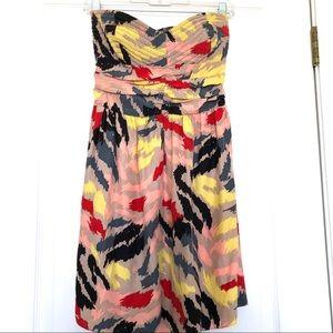 Parker Geometric Pattern Silk Dress Multicolor